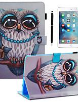 Недорогие -кейс&усилитель; Стилус&усилитель; 1шт защита экрана для Apple Ipad Pro 11''2018 / Новый воздух (2019) /10.2''(2019)/10.5 с подставкой / флип / ультратонкая задняя крышка сова искусственная