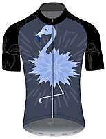 Недорогие -21Grams Муж. С короткими рукавами Велокофты Черный / синий Фламинго Животное Цветочные ботанический Велоспорт Джерси Верхняя часть Горные велосипеды Шоссейные велосипеды / Эластичная / Дышащий