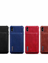 Недорогие -Кейс для Назначение Apple iPhone XR / iPhone 6s Plus / iphone 7Plus / 8Plus Защита от удара Кейс на заднюю панель Плитка Настоящая кожа / ТПУ