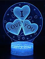 Недорогие -3d ночник я люблю тебя иллюзия оптическая лампа из светодиодов светящиеся 7 цветов меняющиеся rgb домашнего декора спальня настольные светильники для детей взрослых девочек сердце