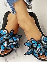 cheap -Women's Sandals Flat Sandal Summer Flat Heel Round Toe Daily Canvas Yellow / Red / Blue