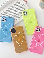 Недорогие -чехол для apple iphone 11 11pro 11 pro max флуоресцентный любовный рисунок тпу прозрачный материал процесс окраски устойчивый к царапинам чехол для мобильного телефона
