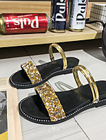 cheap -Women's Sandals 2020 Flat Heel Open Toe PU Casual / Minimalism Spring &  Fall / Spring & Summer Gold / Silver / Black
