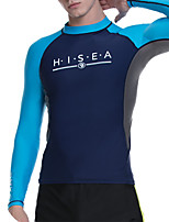 cheap -HISEA® Men's Diving Rash Guard Swim Skirt Top UV Sun Protection Breathable Quick Dry Long Sleeve Swimming Snorkeling Patchwork Autumn / Fall Spring Winter
