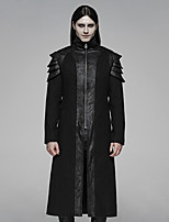 cheap -Plague Doctor Retro Vintage Gothic Steampunk Coat Masquerade Men's Costume Black Vintage Cosplay Event / Party Long Sleeve