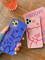 cheap -Case For Apple iPhone 11 / iPhone 11 Pro / iPhone 11 Pro Max Shockproof / with Stand / Pattern Back Cover Solid Colored / Animal / Cartoon PC