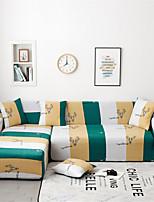 Недорогие -цветной ленточный принт, пыленепроницаемый, всевозможные чехлы из эластичного материала L-образный чехол для дивана Супер мягкий чехол из ткани с одной бесплатной наволочкой