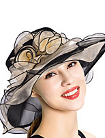 cheap -Queen Elizabeth Audrey Hepburn Retro Vintage Summer Kentucky Derby Hat Fascinator Hat Women's Costume Golden / Yellow / Fuchsia Vintage Cosplay Party Evening Tea Party Festival
