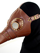 cheap -Plague Doctor Retro Vintage Steampunk Mask Masquerade Men's Women's Costume Mask Brown Vintage Cosplay Party Halloween