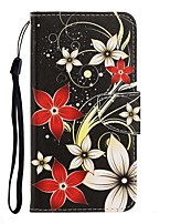 cheap -Case For Huawei P40 Lite/Nova 7SE/Y9 Prime 2019 Wallet / Card Holder / with Stand Full Body Cases Flower PU Leather For Huawei P Smart Z/P20 Lite 2019/Nova 7 Pro/Honor V30/Play 3