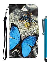 Недорогие -Кейс для Назначение Apple iPhone 11 / iPhone 11 Pro / iPhone 11 Pro Max Кошелек / Бумажник для карт / со стендом Чехол Бабочка Кожа PU / ТПУ