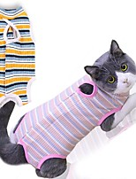 cheap -Dog Cat Jumpsuit Pants Dog Clothes Yellow Pink Costume Husky Golden Retriever Japanese Spitz Cotton Stripes Unique Design Special S M L XL