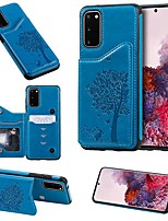 cheap -Case For Samsung Galaxy Note 9 / Galaxy S10 / Galaxy S10 Plus Card Holder / with Stand / Pattern Back Cover Solid Colored / Animal PU Leather / TPU