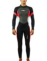 cheap -HISEA® Men's Full Wetsuit 3mm SCR Neoprene Diving Suit Windproof Quick Dry Long Sleeve Back Zip Patchwork / Stretchy