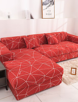 cheap -Colorful Red Geometric 1/2/3/4 seater Sofa cover Tight wrap all-inclusive sectional elastic seat couch covers Slipcovers Christmas