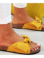 cheap -Women's Sandals Flat Sandal Summer Flat Heel Open Toe Daily Canvas Black / Yellow / Red