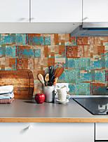 Недорогие -20x10cmx9 шт. Ржавый узор наклейки на стены ретро маслостойкие водонепроницаемый плитка обои для кухни ванная комната земля стены украшения дома