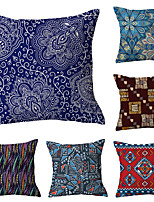 cheap -6 pcs Polyester Pillow Cover, Retro Plaid Simple Classic Square Traditional Classic