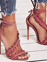 cheap -Women's Wedding Shoes Stiletto Heel Open Toe PU Spring & Summer Red / White / Black