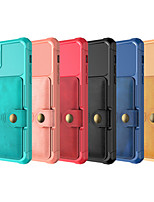 cheap -iPhone11Pro Max Four-corner Anti-fall Flip Leather Case Mobile Phone Shell XS Max Card Wallet Type 6/7 / 8Plus Protective Cover