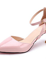 cheap -Women's Sandals Black Sandals Spring & Summer Stiletto Heel Pointed Toe Daily PU Black / Pink / Gray