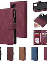 cheap -Case For Samsung Galaxy Galaxy A10(2019) / Galaxy A30(2019) / Galaxy A50(2019) Wallet / Card Holder / Shockproof Full Body Cases Solid Colored PU Leather
