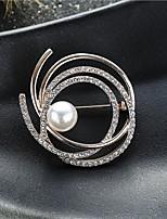 Недорогие -женский белый кубический цирконий длинное ожерелье классический простой классический мода хром золото серебро 80 см ожерелье ювелирные изделия 1 шт. для подарка ежедневный фестиваль