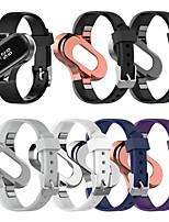 Недорогие -Ремешок для часов для Xiaomi Mi Band 4 Xiaomi Спортивный ремешок / Классическая застежка Нержавеющая сталь / силиконовый Повязка на запястье
