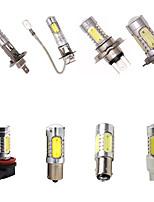 Недорогие -H1 H3 H4 H7 H8 H11 1156 1157 T20 7443 светодиодные фары автомобиля противотуманные фары лампы высокой мощности 7,5 Вт чипсетов 12 В DC 350 люмен 6000 К спрятал белый проекционный светильник 2 шт.