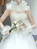 cheap -Sleeveless Scarves Tulle Wedding Women's Wrap With Ruffles