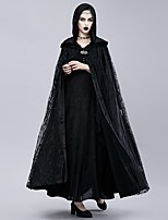cheap -Plague Doctor Retro Vintage Gothic Steampunk Cloak Masquerade Women's Costume Black Vintage Cosplay Event / Party