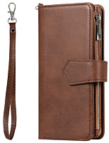 cheap -Case for Samsung scene graph Samsung Galaxy S20 S20 Plus S20 Ultra A51 A71 Solid color PU leather material card holder lanyard two in one zipper models all-inclusive anti-fall mobile phone case KT