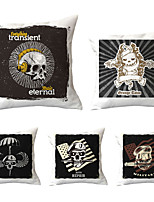 cheap -5 pcs Throw Pillow Simple Classic 45*45 cm Polyester Pillow Cover Special Design Halloween Square Traditional Classic