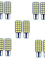 cheap -10pcs W5W Led T10 SMD3030 18 leds LED Canbus Bulb Car Interior Lights Car LED License Plate Lights for universal