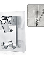 cheap -Space aluminum Shower Holder Metal Adjustable Self-adhesive Suction Up Wall Mounted Bathroom Shower head Mounting Brackets