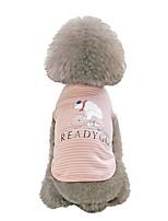 Недорогие -Собаки Жилет Одежда для собак Желтый Розовый Черный Костюм Хаски Лабрадор аляскинского маламута Хлопок В полоску На каждый день S M L XL XXL