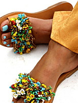 cheap -Women's Sandals Flat Sandal Summer Flat Heel Open Toe Daily PU Yellow