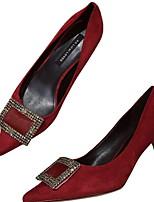 Недорогие -Жен. Обувь на каблуках На шпильке Заостренный носок Полиуретан Весна лето Вино / Черный