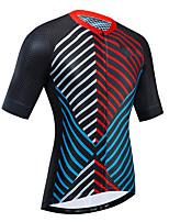 Недорогие -21Grams Жен. С короткими рукавами Велокофты Красный + синий Велоспорт Джерси Верхняя часть Горные велосипеды Шоссейные велосипеды Устойчивость к УФ Дышащий Быстровысыхающий Виды спорта Одежда