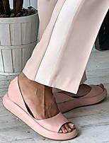 cheap -Women's Sandals Flat Sandal Spring & Summer Flat Heel Open Toe Daily Office & Career PU White / Yellow / Pink