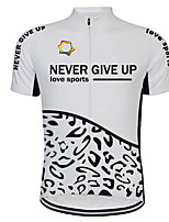cheap -21Grams Men's Short Sleeve Cycling Jersey Black / White Bike Jersey Top Mountain Bike MTB Road Bike Cycling UV Resistant Breathable Quick Dry Sports Clothing Apparel / Stretchy / Reflective Strips