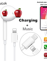 cheap -LITBest Lighting Wired In-ear Earphone Wireless Bluetooth 5.0 with Microphone with Volume Control InLine Control Pop Up Window for Mobile Phone