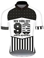Недорогие -21Grams Муж. С короткими рукавами Велокофты Черный / Белый Американский / США Звезды Флаги Велоспорт Джерси Верхняя часть Горные велосипеды Шоссейные велосипеды / Эластичная / Быстровысыхающий