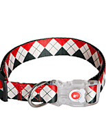 cheap -Dog Collar Adjustable Size For Dog / Cat Other Material Rainbow