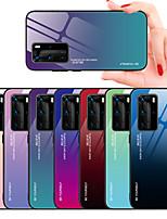 Недорогие -Кейс для Назначение Huawei Huawei P20 / Huawei P20 Pro / Huawei P20 lite С узором Кейс на заднюю панель Плитка ТПУ