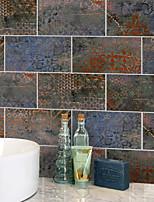 Недорогие -20x10cmx9pcs железные ржавые наклейки на кирпичные стены ретро маслостойкие водонепроницаемый плитка обои для кухни ванная комната земля стены украшения дома