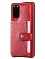 cheap -Case For Samsung Galaxy S20 Plus / S20 Ultra / S20 Shockproof / Flip Back Cover Solid Colored PU Leather