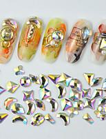 Недорогие -1*100 pcs Хрусталь / Разная конструкция Камни и кристаллы Стразы для ногтей Кристаллы Назначение Маникюр Тату со стразами 3D маникюр Маникюр педикюр Повседневные Геометрия / Мода