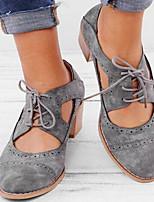 Недорогие -Жен. Обувь на каблуках На толстом каблуке Заостренный носок Полиуретан Весна лето Желтый / Черный / Серый