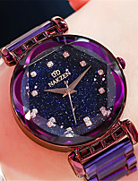 cheap -Quartz Watches Luxury Fashion Stainless Steel Japanese Quartz Rose Gold Purple Water Resistant / Waterproof 30 m Analog